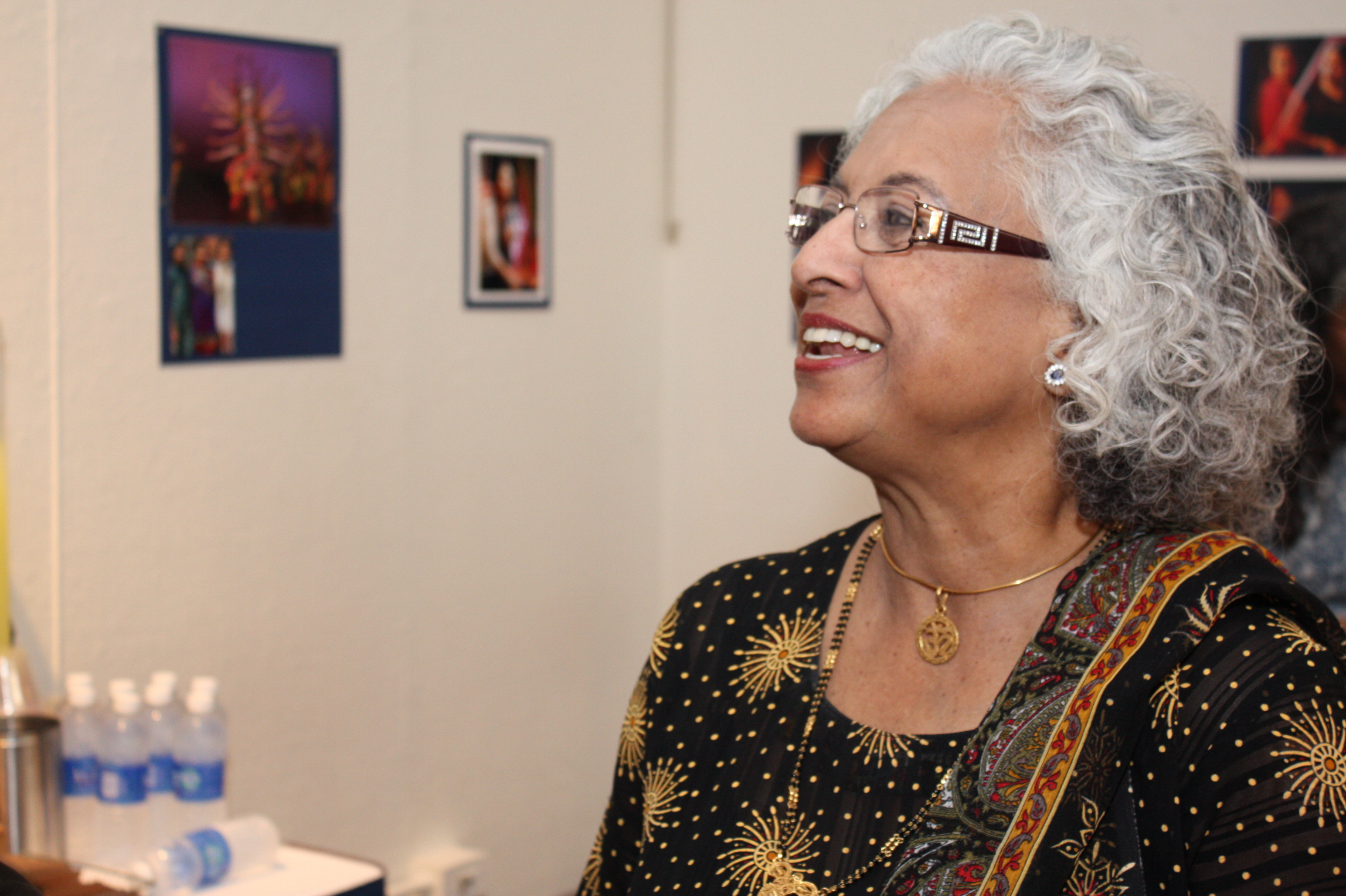 Shakuntala Rajagopal at the opening night reception