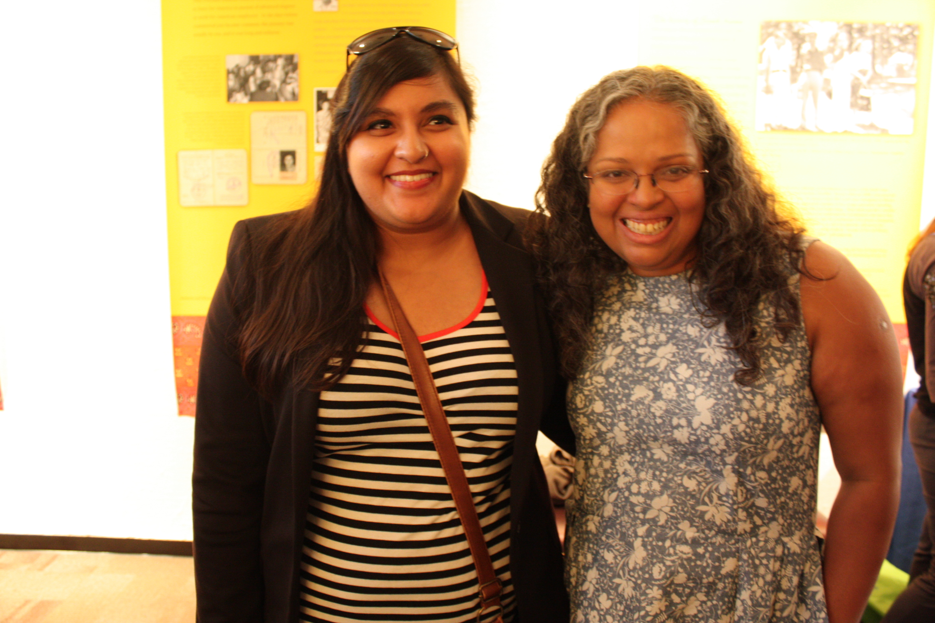 (left to right) Neha Kumar, assistant director, and Mary Anne Mohanraj, festival director, at the opening night reception