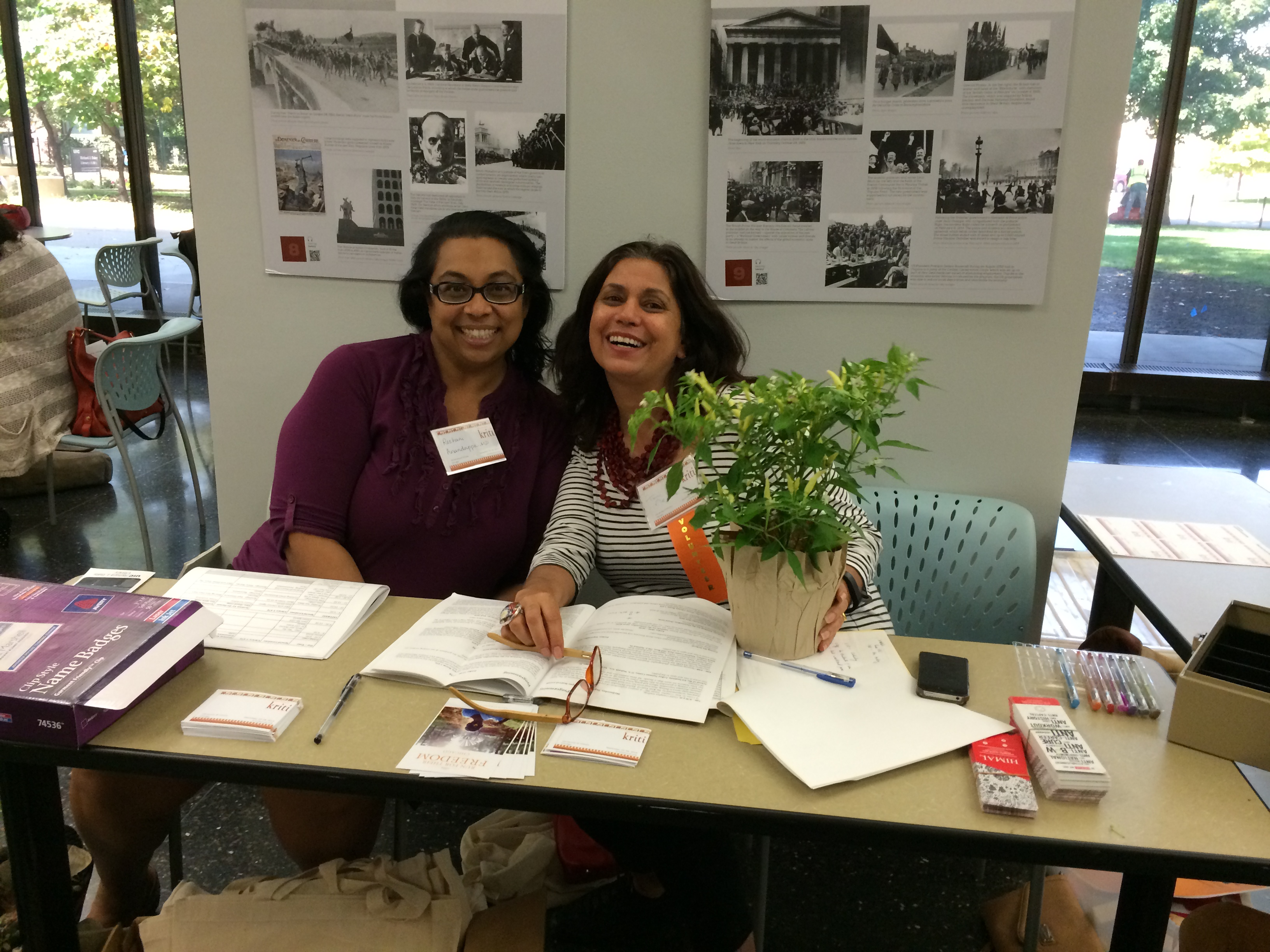 (left to right) Roshani Anandappa and Toni Nealie at the registration desk