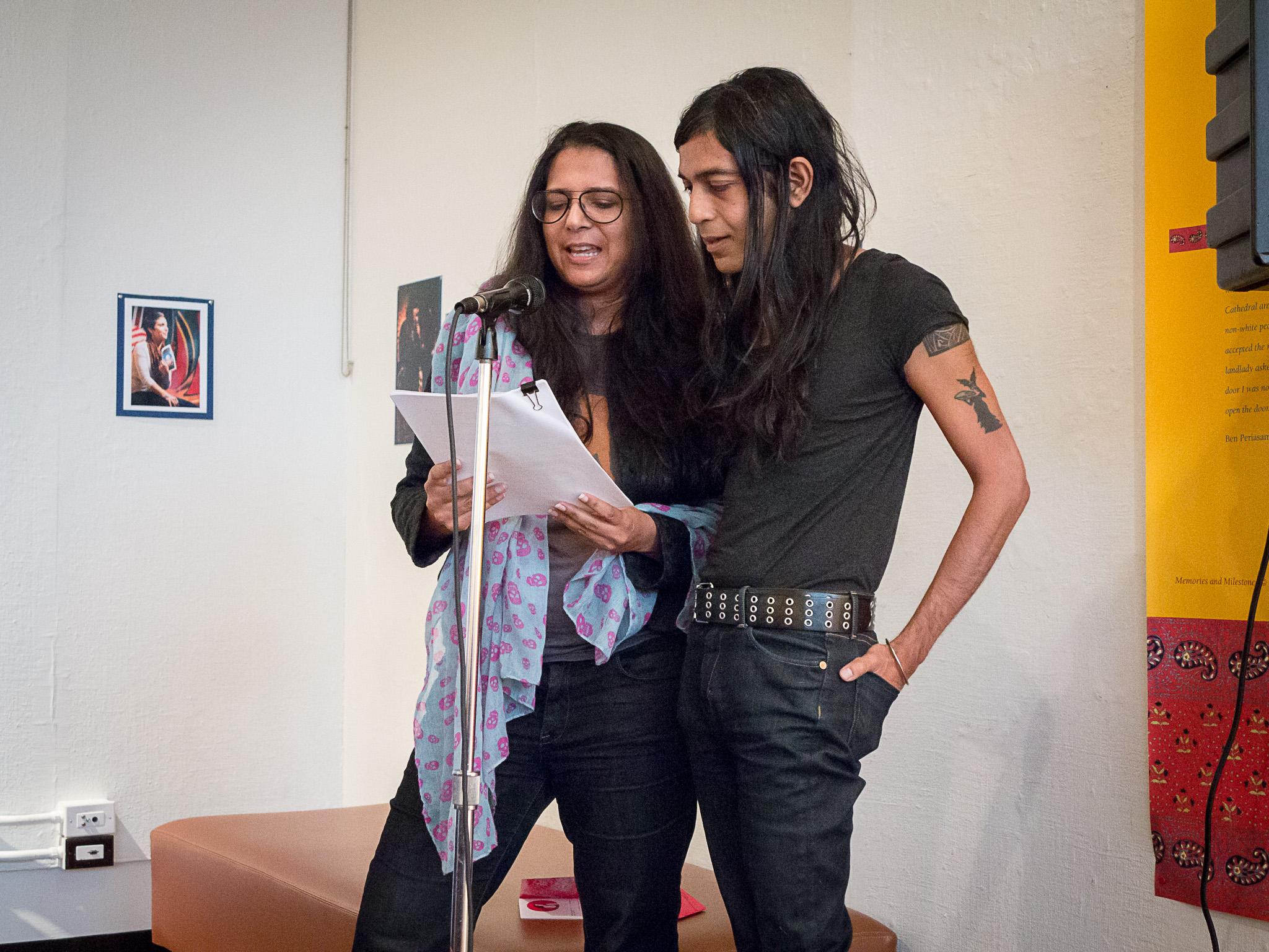 Vidhu Aggarwal and Bishakh Som at festival reception