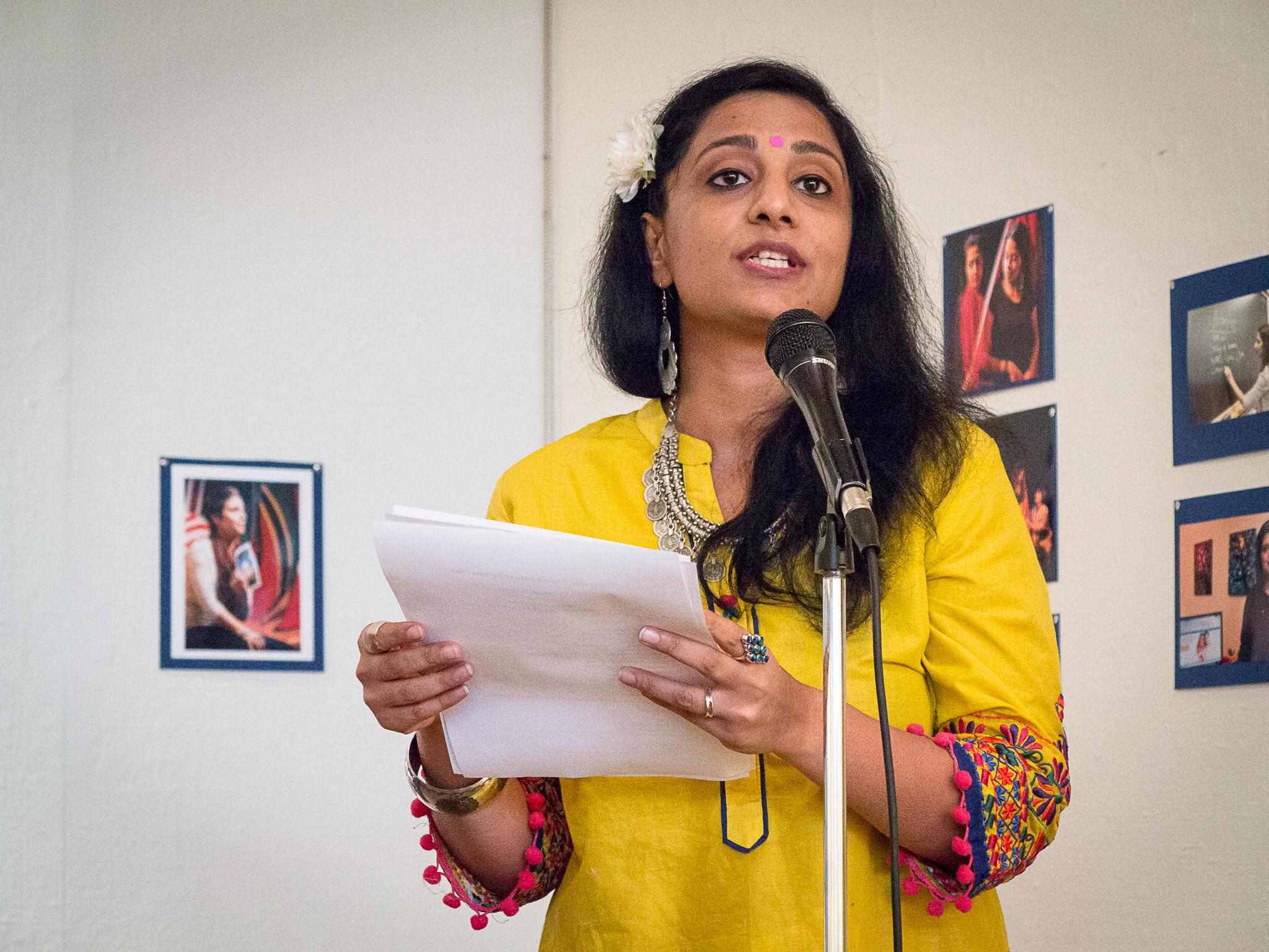 Neha Misra at festival reception