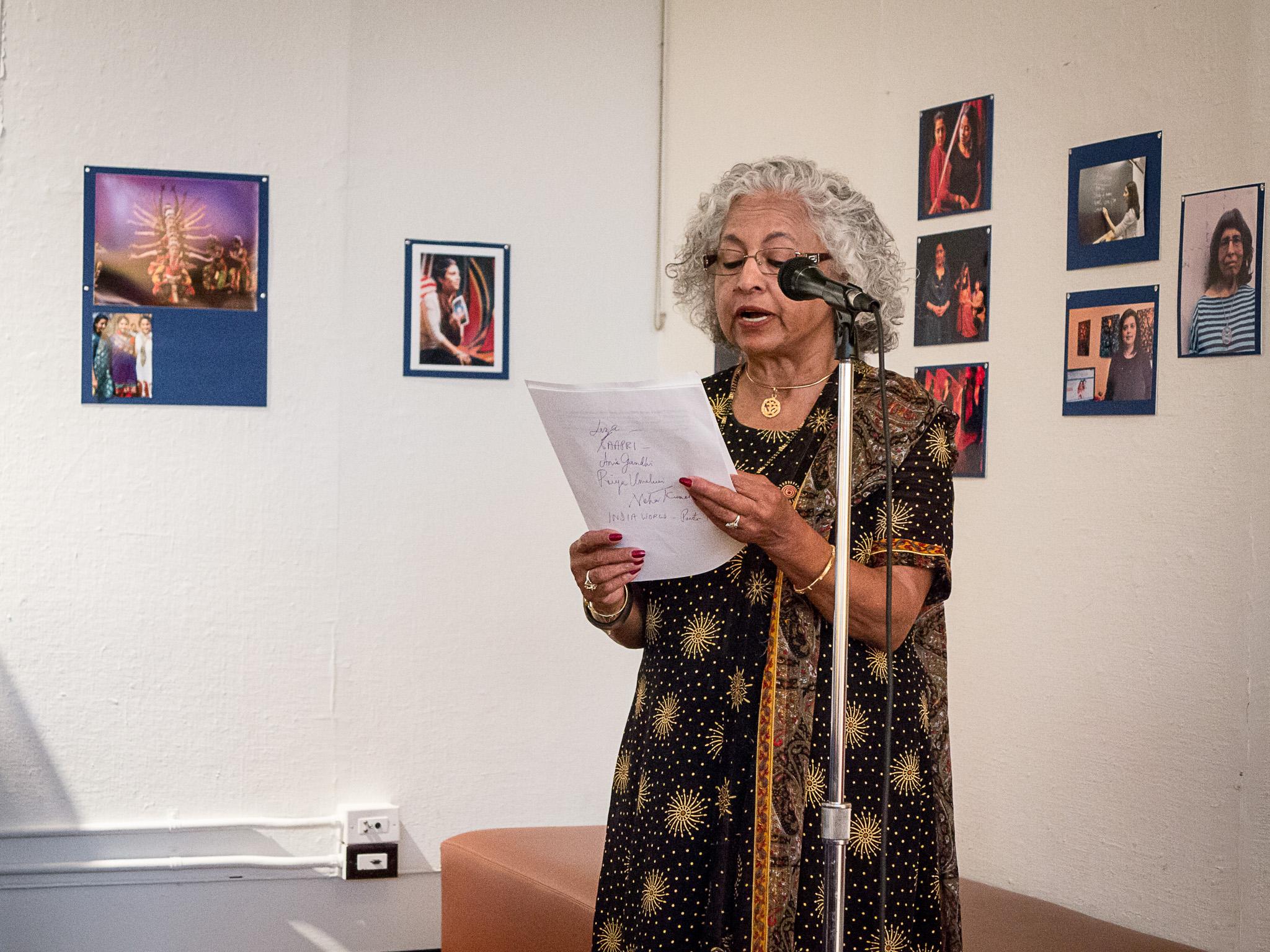 Shakuntala Rajagopal at festival reception