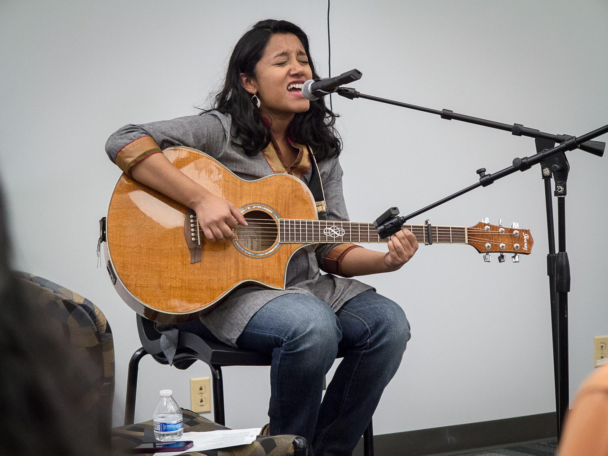 Malini D. Sur's singing performance